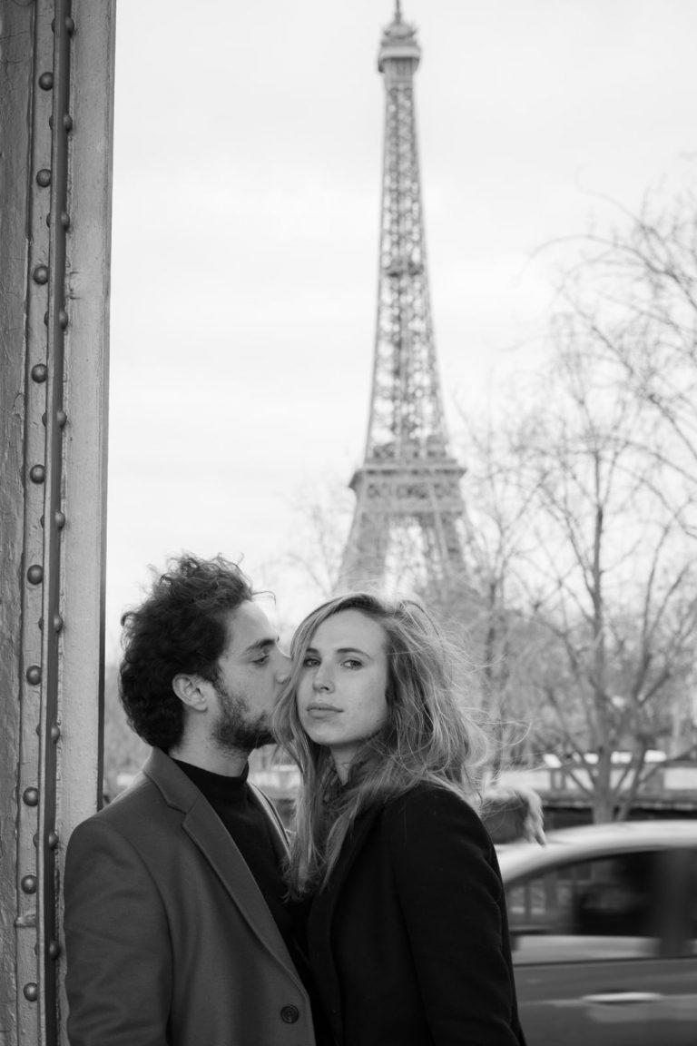 portrait couple en noir et blanc