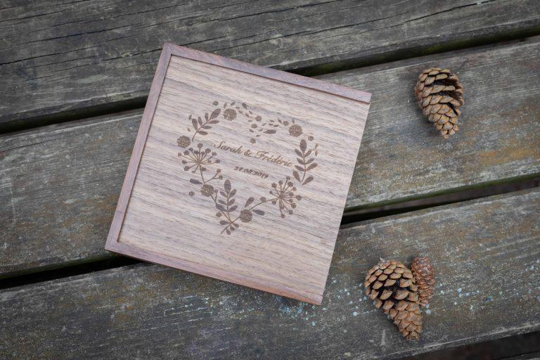 écrin en bois gravure personnalisée